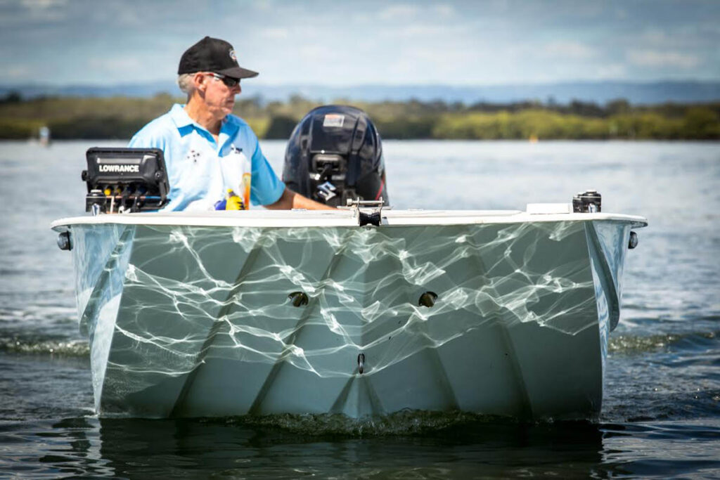 The unique lapstrake hull provides stability that a good bass boat needs