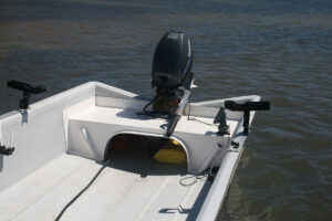 Standard rod holders and rear deck