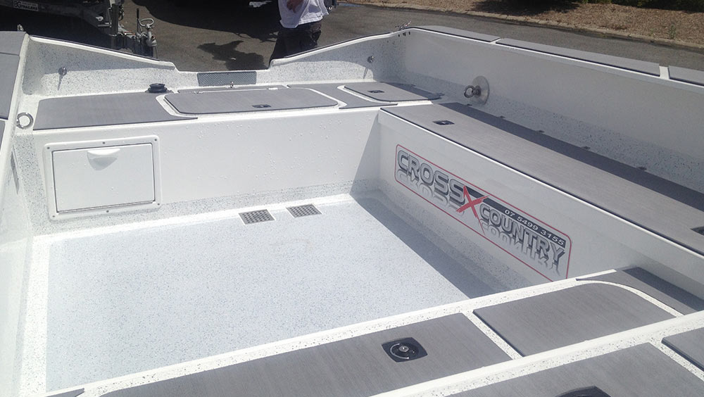 Rock locker on a 4.3m CxC sports fishing boat