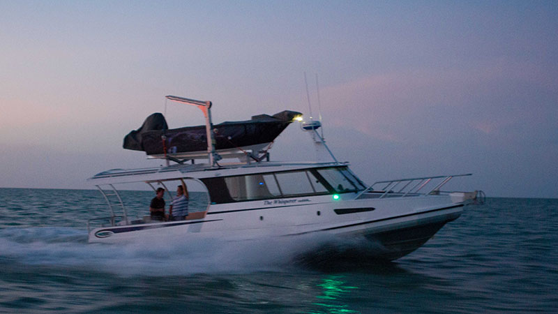 A 4.3m Cross X Country has become a Tender for this Tiwi Island fishing charter