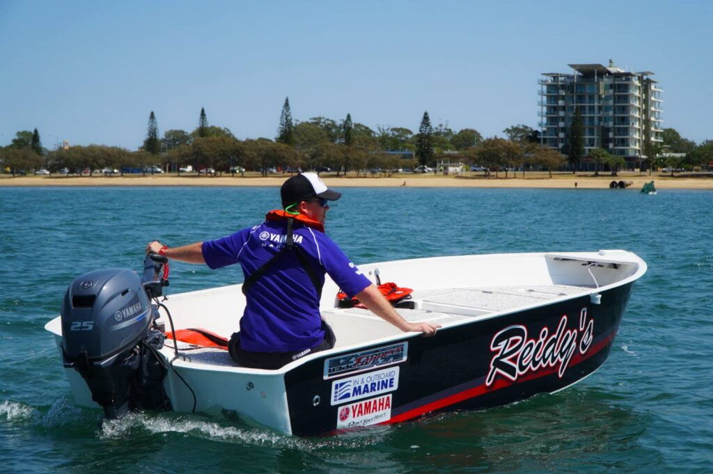 Yamaha testing their outboard on our Ezytopper